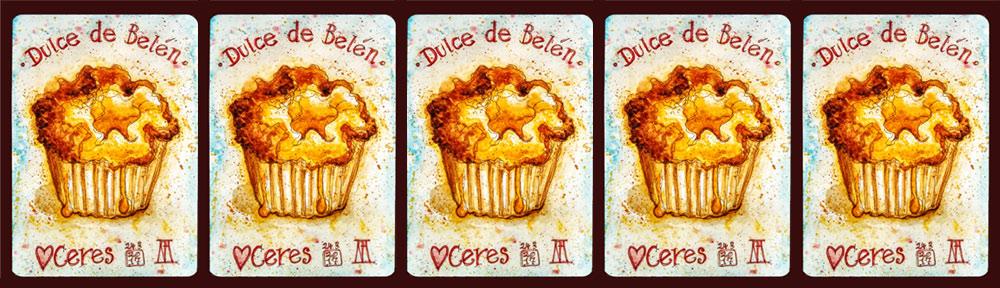 dulce de belen, cake, custard tart, ceres, vejer, vejer de la frontera,, pen and watercolour, watercolour, water color, acuarela, sketch, food, illustration